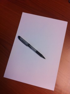 CV en blanco